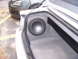 "BMW E46 Convertible 1x10"" SUB BOX SUBWOOFER ENCLOSURE"
