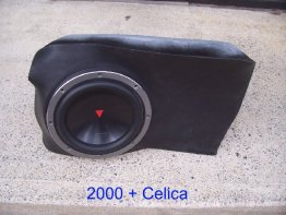 Toyota - Celica 1X10w1v3 Enclosure w/sub Sub box Subwoofer enclosure