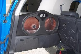 "Toyota - FJ Cruiser 2X10"" DRIVERS SIDE Sub box Subwoofer enclosure"