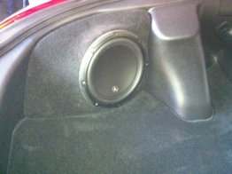 Nissan 370Z Corner 1x10 Enclosure Sub box Subwoofer enclosure stealth look
