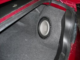Ford - Mustang 2005-09 1X10 Passenger Sub box Subwoofer enclosure