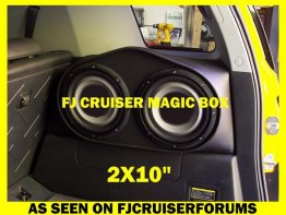 "Toyota - FJ Cruiser 2X10"" PASS SIDE Enclosure Sub box Subwoofer enclosure"