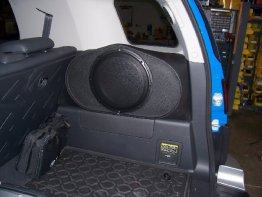 "Toyota - FJ CRUISER 1x12"" Enclosure Sub box PASS SIDE  Subwoofer enclosure"